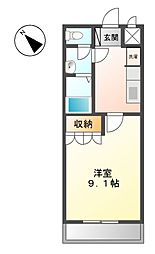 プチ・プランドール[1階]の間取り
