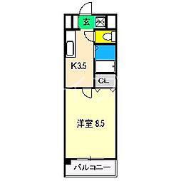 ロイヤルハイツ(長浜)[3階]の間取り