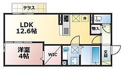 セジュール青谷壱番館[1階]の間取り