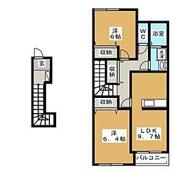 Serene[2階]の間取り