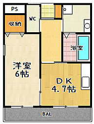 YUWA Seta(ユーワセタ)[305号室]の間取り