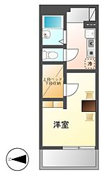愛知県名古屋市熱田区中出町2丁目の賃貸マンションの間取り