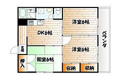 コーポ社の木[1階]の間取り