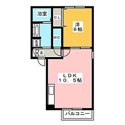 ルミエール松崎[1階]の間取り