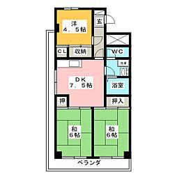 難波マンション[4階]の間取り