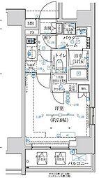 東京メトロ半蔵門線 水天宮前駅 徒歩8分の賃貸マンション 5階1Kの間取り