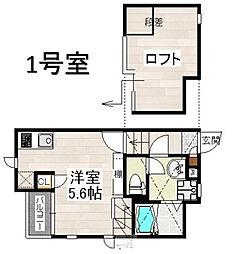 CB箱崎フルール[2階]の間取り