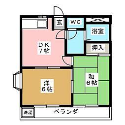 ブァルール江島[1階]の間取り