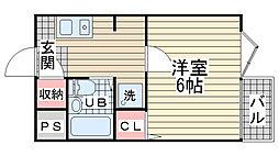 ハイツ宮川[203号室]の間取り