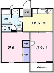 パークサイド1[2階]の間取り