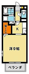 グリーンビレッジFM E[2階]の間取り