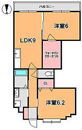 奈良県奈良市大森西町の賃貸マンションの間取り