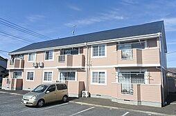 群馬県伊勢崎市上諏訪町の賃貸アパートの外観