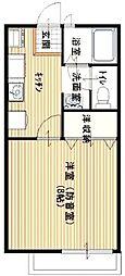 埼玉県入間市大字仏子の賃貸アパートの間取り