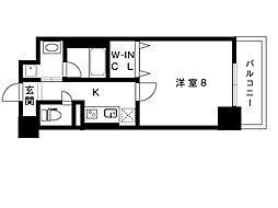 阪神本線 石屋川駅 6階建[606号室]の間取り