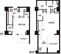都営三田線 白金高輪駅 徒歩5分の賃貸マンション 1階1LDKの間取り