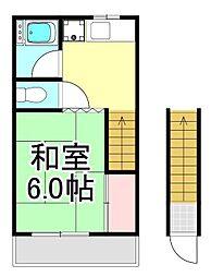 共栄コーポ[2階]の間取り