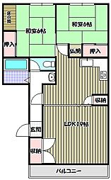 大阪府堺市堺区遠里小野町3丁の賃貸マンションの間取り
