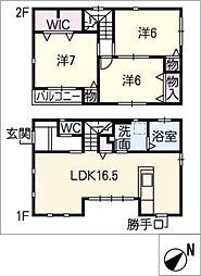 [一戸建] 三重県桑名市新町 の賃貸【/】の間取り