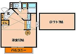 ベルパティオI[2階]の間取り