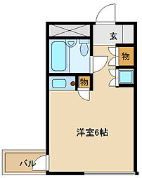 兵庫県尼崎市南塚口町3の賃貸マンションの間取り