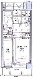 グローベルザオペラ横浜ウエスト[7階]の間取り