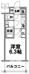 エスリード新大阪グランファースト[802号室]の間取り
