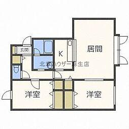 オレンジハウスD[1階]の間取り