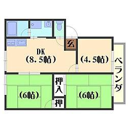ウインディア高台[A203号室]の間取り