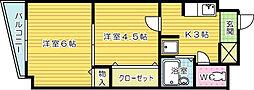 ロイヤルM[403号室]の間取り