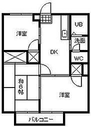 シティハイツ園田[203号室]の間取り
