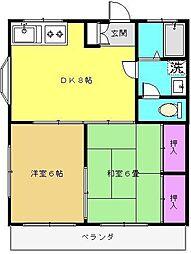 緑ハイツ[1階]の間取り
