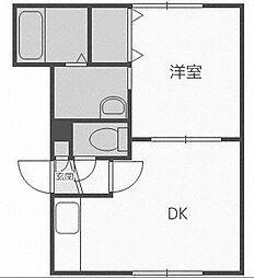 北海道札幌市手稲区前田一条10丁目の賃貸マンションの間取り