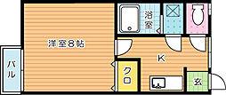 ミルフィーユI[2階]の間取り