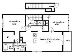ヘゼリッヒ[2階]の間取り