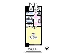 エクセル高幡[402号室]の間取り
