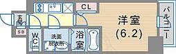 JR東海道・山陽本線 神戸駅 徒歩6分の賃貸マンション 4階1Kの間取り