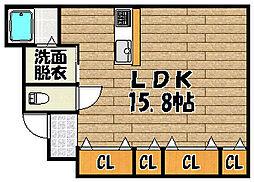 兵庫県川西市平野3丁目の賃貸マンションの間取り