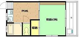 長崎マンション[203号室]の間取り