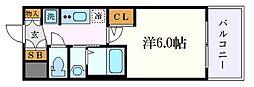 名古屋市営名城線 金山駅 徒歩9分の賃貸マンション 9階1Kの間取り