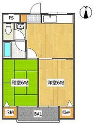 ハムロハイツ杉田 A棟[3階]の間取り