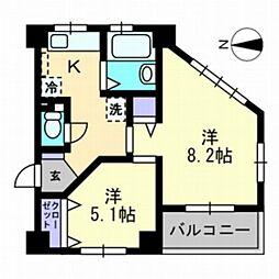 カルム厚生町[4階]の間取り