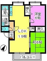 ティアラ飯田[102号室]の間取り