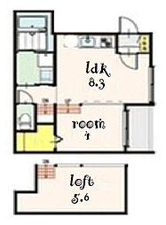 パルクカナヤマ2[1階]の間取り