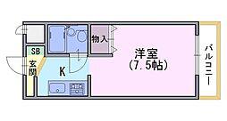 コモド長岡京[1階]の間取り