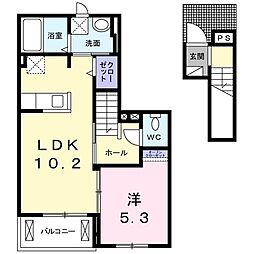 テラス SSKⅡ[2階]の間取り