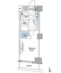 ザ・パークハビオ新宿[2階]の間取り