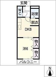 アイランドTakashi[2階]の間取り