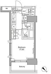 東京メトロ有楽町線 月島駅 徒歩1分の賃貸マンション 7階1Kの間取り