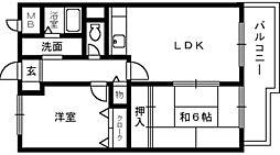 大阪府堺市南区宮山台1丁の賃貸マンションの間取り